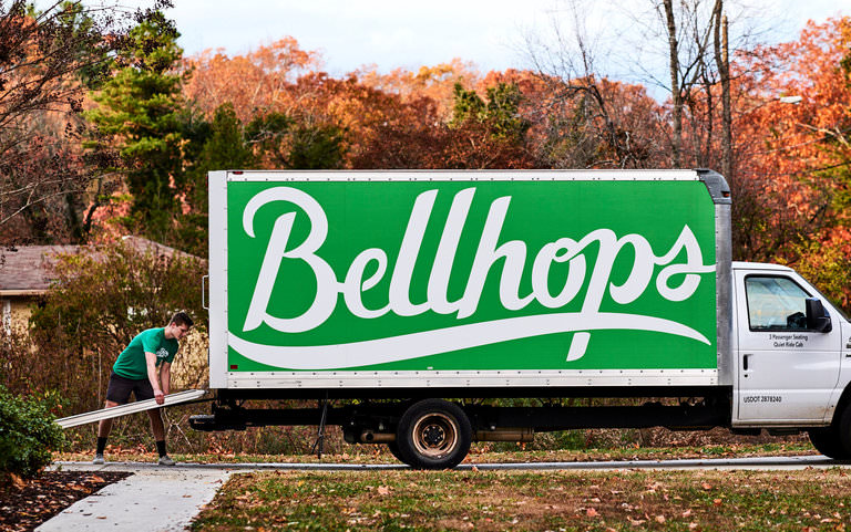 Bellhop Loads a Bellhops Moving Truck for our Feature in the New York Times
